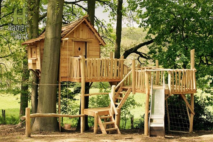 Een boomhut in de tuin plezier voor jong en oud tuinweb for Beneden tuin