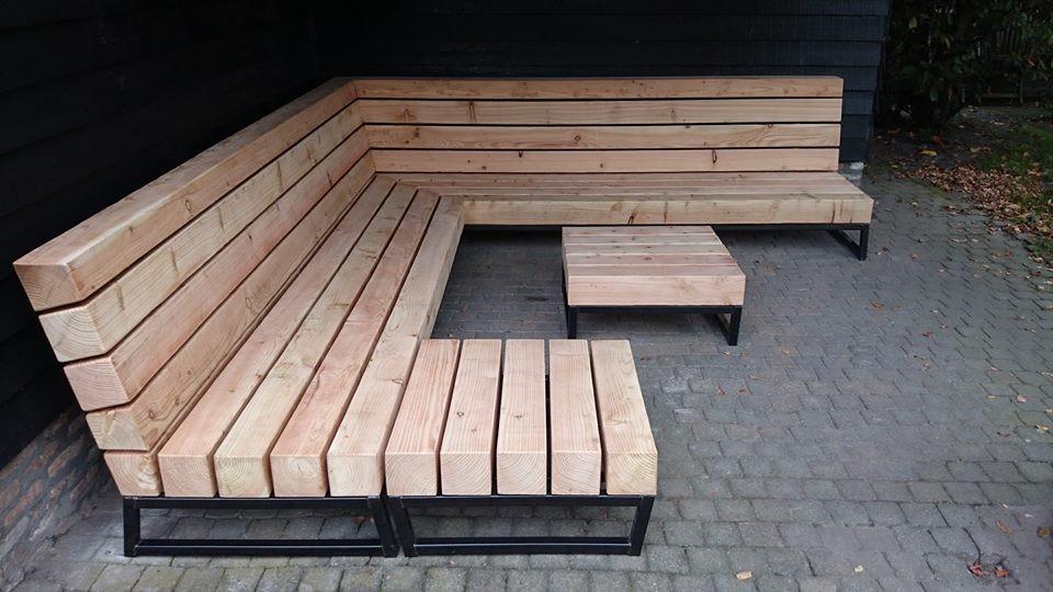 Unieke tuin loungebank op maat tuinweb for Foto op hout maken eigen huis en tuin