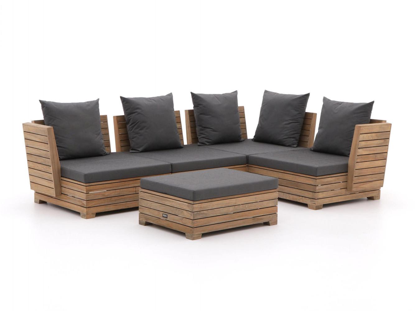 Design hoek loungeset van teak