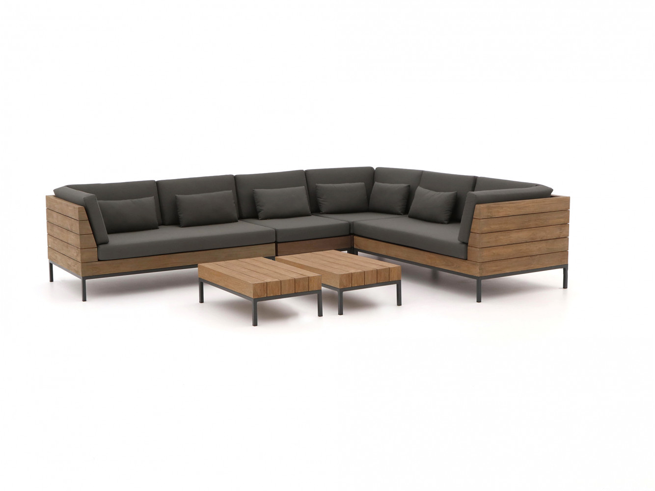 teak design hoek loungebank