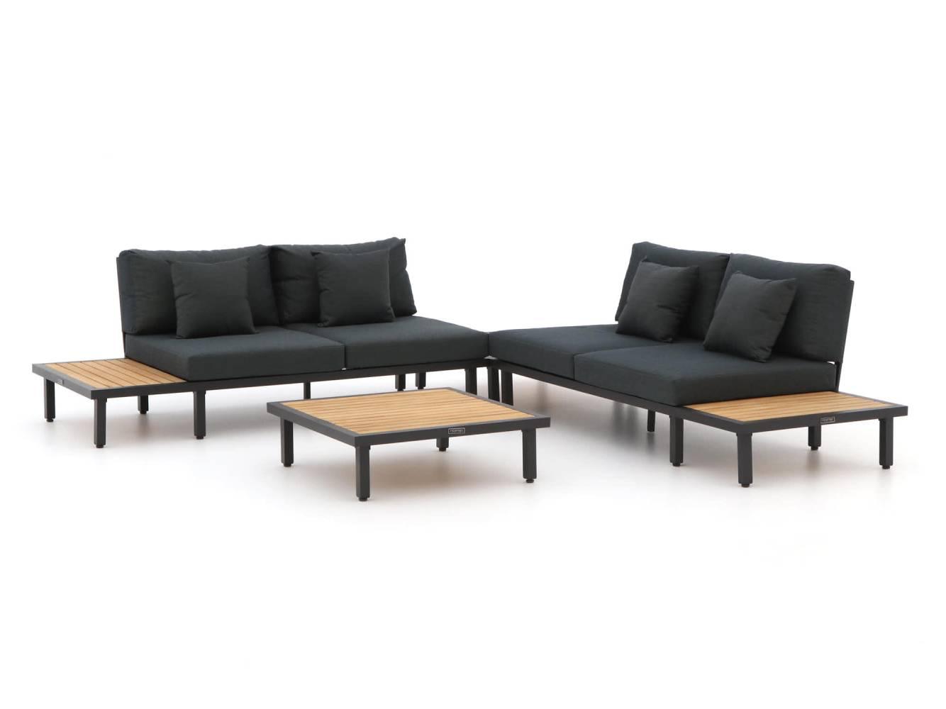 loungeset alumunium en hout
