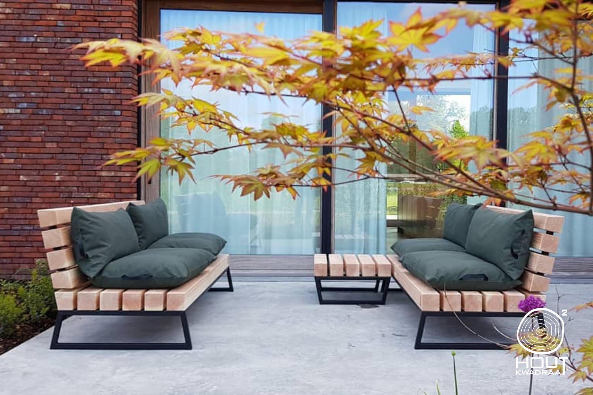 tuin loungebank op maat