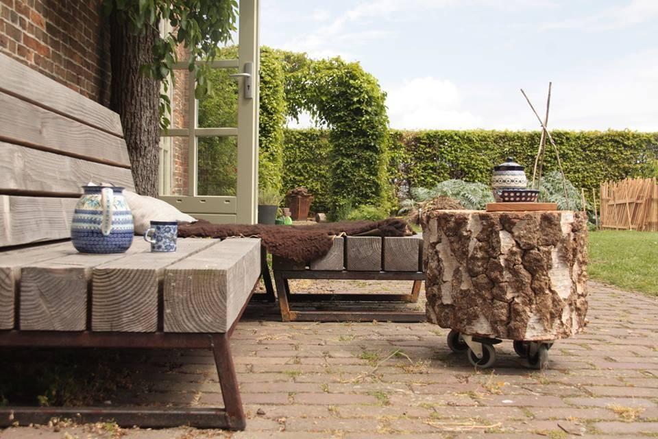 Unieke tuin loungebank op maat tuinweb