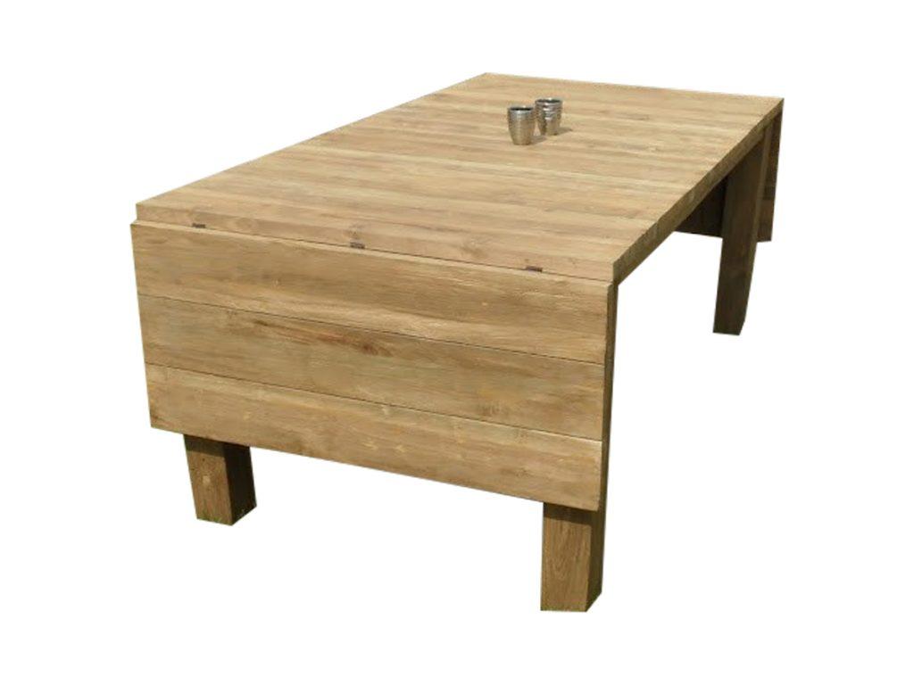 inklapbare tafel teak