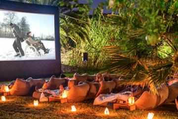 bioscoop in de tuin
