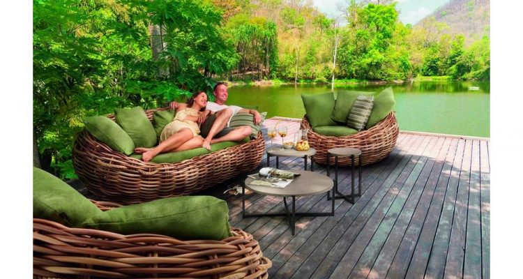 mooie rotan loungeset van kunststof