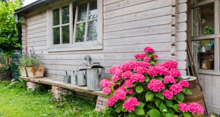 Een tuinhuis inrichten