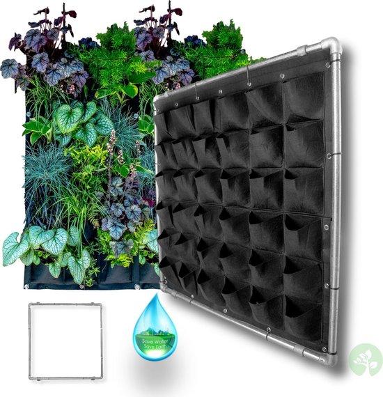 Verticale Tuin zwart met bevestigingsframe en Watersysteem