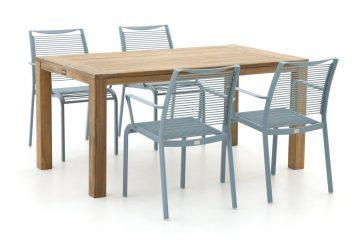 mooie-tuinset-voor-4-personen-hout-aluminium